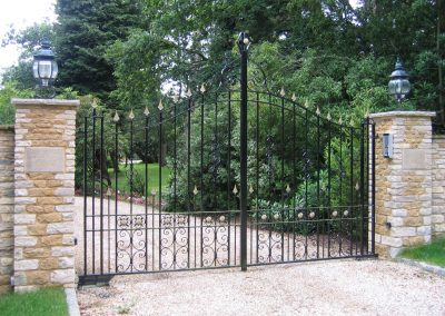 Bespoke Bell Top Entrance Gates