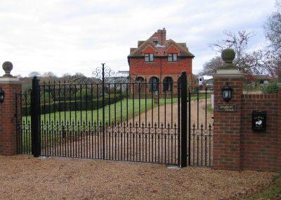 Bespoke Flat Top Entrance Gates