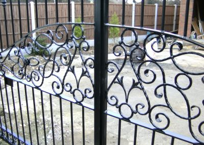 Bespoke ornamental estate gates