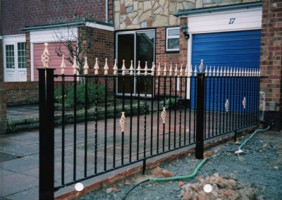 Bespoke Railing with Twists and Baskets