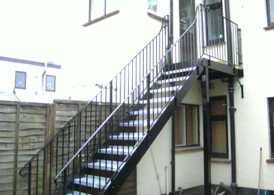 Staircase and platform