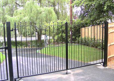 Shaped top Elmwood entrance gates