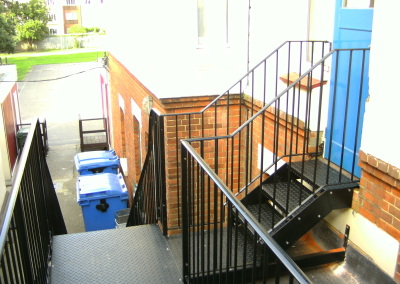 Staircase and platforms
