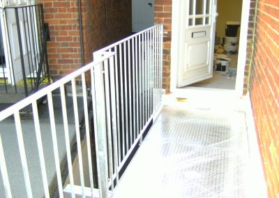 Galvanised staircase and platform