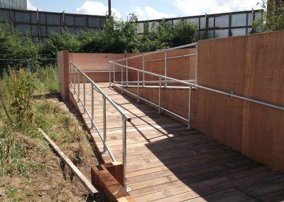 Galvanised steel tube railing 1
