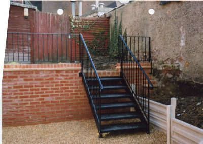 Garden Stairs with Railing