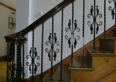 Ornate internal stair balusters