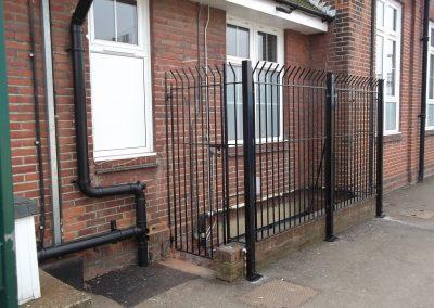 Security railing & gate