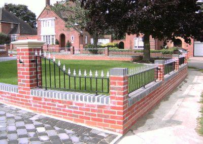 Swan neck Victoria railing