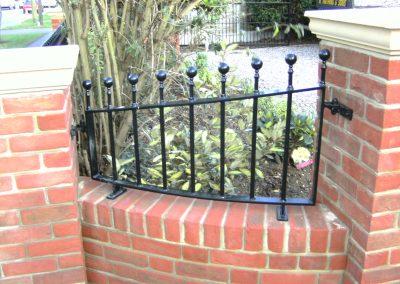 Shaped Victoria wall railing