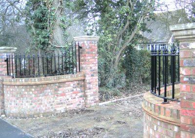 Shaped Victoria wall railing heavy infill