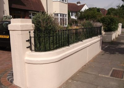 Shaped Victoria railing