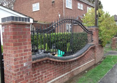 Shaped Windsor railings