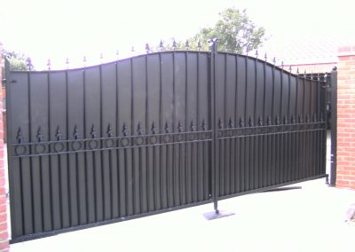 Elmwood estate gates with rings and backing