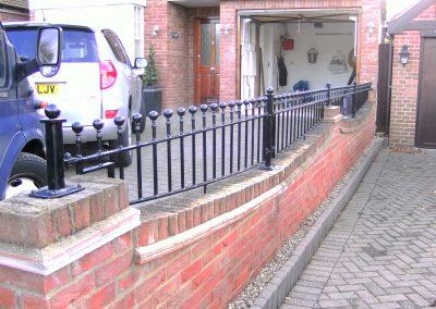 Shaped bottom Victoria wall railing
