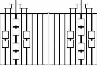 Evesham driveway gates