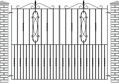 Cheltenham entrance gates