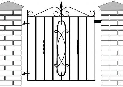 Cheltenham pedestrian gate
