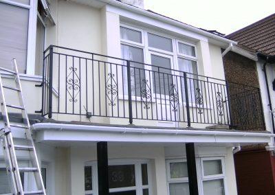 B4 balcony with scrolls
