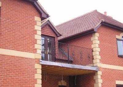 Balcony Railing with Ornate Motifs