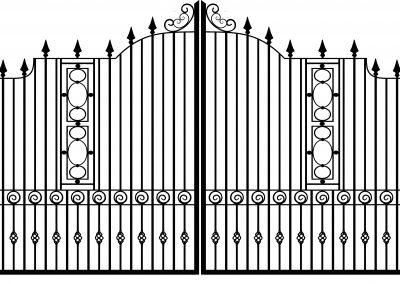 Bedford estate gates