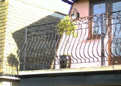 Bespoke bow fronted balcony