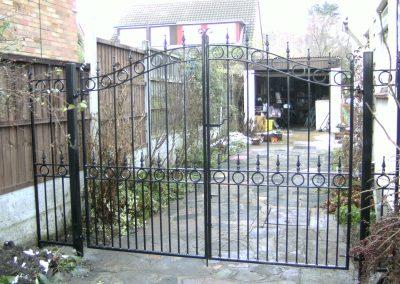 Bow top Ashworth entrance gates standard weight
