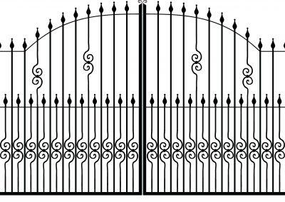 Cambridge estate gates