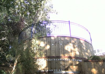 Curved B4 balcony