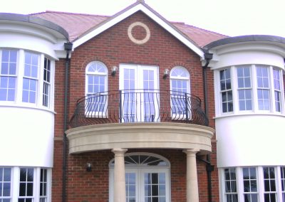 Curved bow fronted balcony