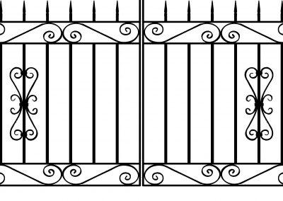 Banbury driveway gates