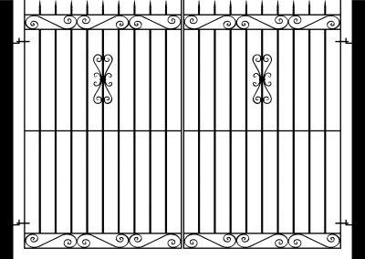 Banbury flat top entrance gates