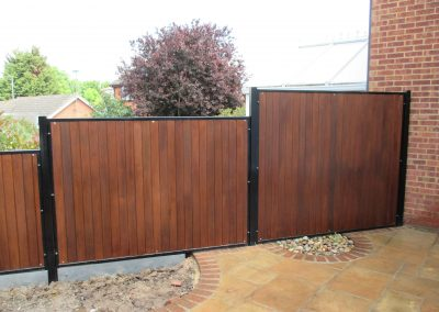Wooden infill fence panels