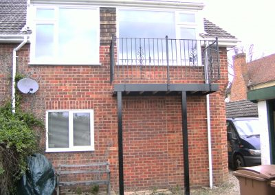 Kingston Balcony with platform and supporting posts