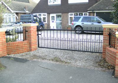 Large single flat top Victoria driveway gate heavy frame