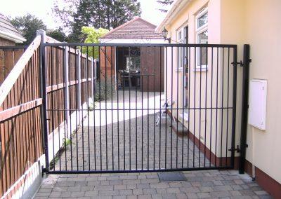 Large single Southgate entrance gate heavy frame