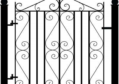 Malwood pedestrian gate
