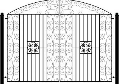 Manor bow top entrance gates