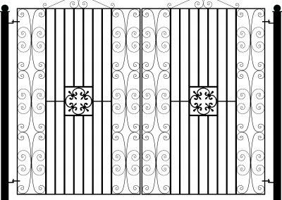 Manor flat top entrance gates