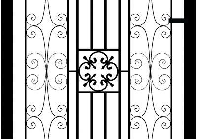 Manor flat top side gate