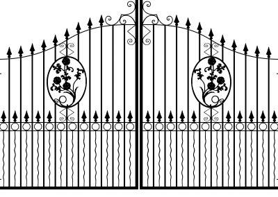 Oxford estate gates
