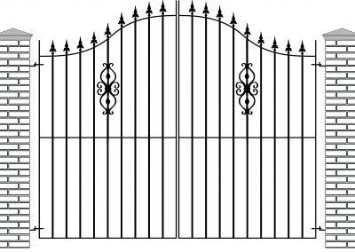 Elstead bell top entrance gates
