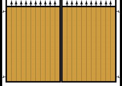 Wooden infill flat top gates