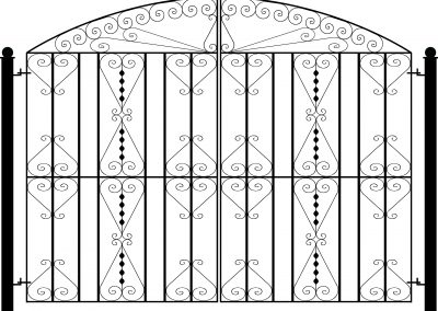 Pitsea bow top entrance gates