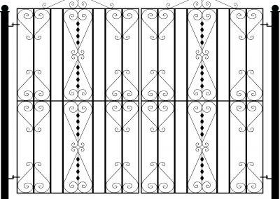 Pitsea flat top entrance gates