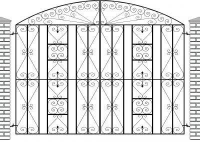 Reddington bow top entrance gates