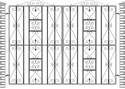 Reddington flat top entrance gates