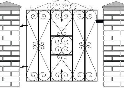Reddington pedestrian gate
