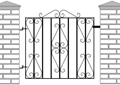 Ross pedestrian gate