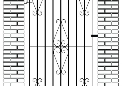 Ross flat top side gate